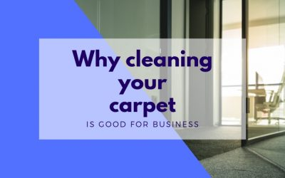Cleaning your office carpets is good for business